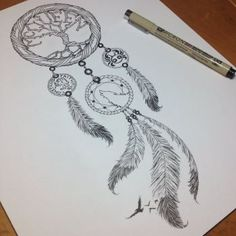 DeviantArt: More Like Wolf Dreamcatcher Tattoo done by Sean Ambrose by seanspoison