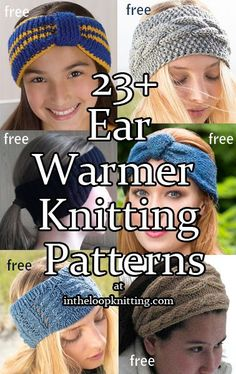 Knitting Patterns for Ear Warmer Headbands. Most patterns are free