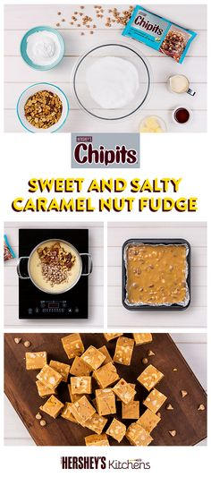 Sweet, salty and super creamy, there's so much to love about CHIPITS Sea Salt Caramel Chips, especially when they're in a super easy recipe like CHIPITS Sweet and Salty Caramel Nut Fudge. #BakeItEasy