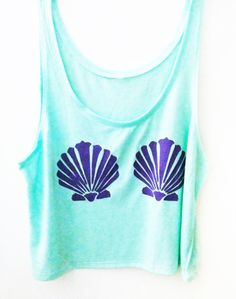 $25 Mint Mermaid Top Crop Top Hipster Fashion The Little Mermaid Disney Tshirts Coachella Summer Fashion Music Festival Outfit