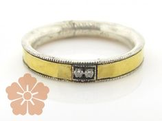 Sterling Silver Layered with Blackened Silver and 24K Gold Lancelot Ring by GURHAN