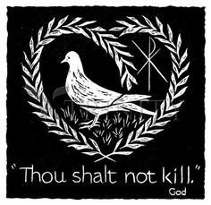 "Thou Shalt Not Kill | Catholic Christian Religious Art - Silhouettes by Dan Paulos - From your Trinity Stores crew, ""Amazing Paper-cutting!"""