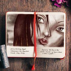 Illustration inspired by Benjamin Lacombe's Notre Dames de Paris character Esmeralda Watercolour, Inspired, Digital, Illustration, Books, Character, Inspiration, Art, Pen And Wash