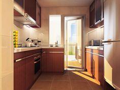 En los espacios pequeños es importante que haya suficiente luz natural, si tienes una ventana en la cocina ponle máximo una cenefa de color claro. Línea Aquarelle de #Interceramic.