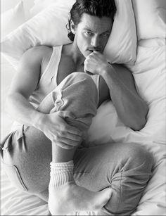 Luke Evans (HOTTIE), Pharrell, David Gandy + More Go Shirtless in Bed for W Magazine image w magazine
