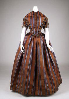 Dress ca. 1845-1850 via The Costume Institute of the Metropolitan Museum of Art