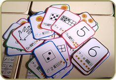 jeu des 6 familles de chiffres de 1 à 6 thème galette