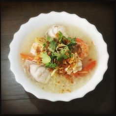 Boiled rice with coral trout and shrimp by @gastronaughty