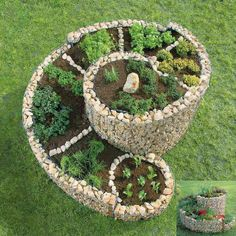Hermoso y diferente! #JardinEspiral #Jardineria #DisenoJardines Beautiful and different! #SpiralGarden #Gardening #GardenDesign