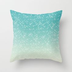 Aqua Sparkle Throw Pillow by Zen And Chic Mermaid Bedding, Mermaid Bedroom, My New Room, My Room, Girl Room, Aqua Bedrooms, Girls Bedroom, Bedroom Ideas, Cute Pillows