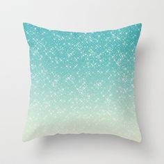 Aqua Sparkle Throw Pillow - $20.00