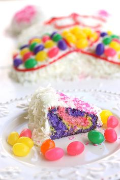 Easter Bunny Cake: me and my Mom used to make this cake but this one is dressed up so well! I may have to copy it for my grandson!