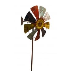 Benzara, Woodland Imprts, The Urban Port - Windmill Garden Stake - Garden Statues and Yard Art Solar Garden Stakes, Tabletop Fountain, Garden Decor Items, Wind Spinners, Rustic Colors, Garden Statues, Color Blending, Yard Art, Ornament