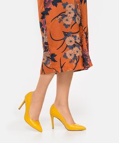 d631f982d Yellow women's pumps. Stuart Weitzman. Yellow women's pumps from 2019  collection - Kazar online