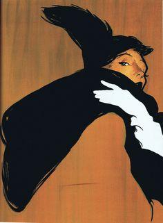 Illustration by René Gruau.