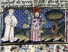 Miniatura tratta dall'opera 'Pèlerinage de la vie humaine' (metà XV secolo), Bodleian Library, Oxford.