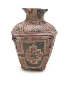 Vasija policromada. Guanajuato (México). Año 200 a.C. - 100 d.C.