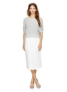WILFRED NARRATEUR SKIRT - Softly structured in a luxurious linen-blend fabric, designed with a ladylike length