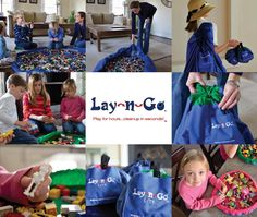 Lay-n-Go - activity mat that converts to a shoulder bag - makes very very easy toy clean-up!