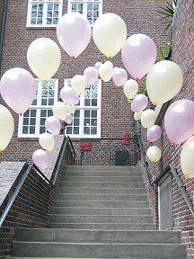 Hochzeit und heiraten: Hochzeitsdekoration aus Luftballons