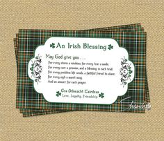 Greeting cards note cards and irish blessing greeting card the template in high resolution g format ready to print 2 cards per letter size sheet of cardstock spiritdancerdesigns Images