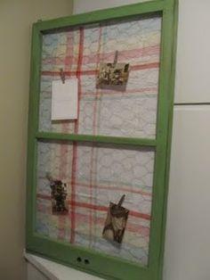 Chicken wire memo board for my kitchen