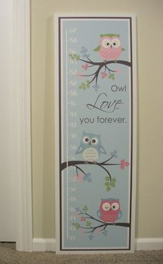 Owl+Love+you+Forever+Growth+Chart+by+lisamingersoll+on+Etsy,+$40.00