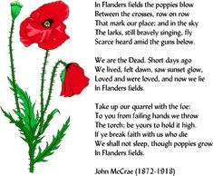 """In Flanders Fields"""" is the world's most famous memorial poem by ..."""