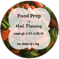 {New Post} food prep and meal planning for week of: 3/23-3/28/14