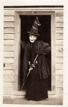 Magory the Witch dons a mask for Halloween (she had an awful wart breakout)