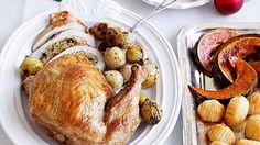 This turkey doesn't dry out because of the delicious macadamia and cranberry filling.