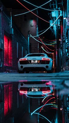 Audi R8 Wallpaper, Car Iphone Wallpaper, Sports Car Wallpaper, Car Wallpapers, Exotic Sports Cars, Exotic Cars, Sports Car Racing, Sport Cars, Neon Car