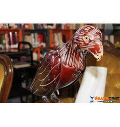 Statua in legno ''Uccello su trespolo''