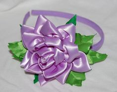 purple rose headband by ROSHELYSBOWTIQUE on Etsy, $10.00