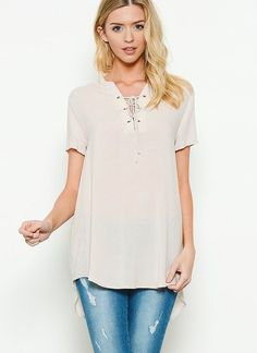 Melson Top in Ivory (Ships 1 Week)