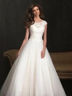 New white A-Line lace wedding dress Gown custom size 2-4-6-8-10-12-14-16-18-