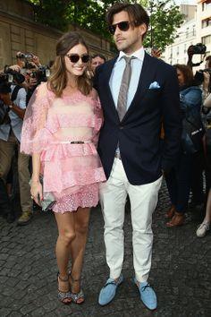 Olivia Palermo y Johannes Huebl en los desfiles de Alta Costura de París #fashion #itgirl #paris