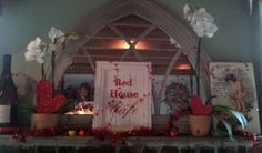 Festive Valentine's Day Décor at Red House Café -  Pacific Grove -See more at https://www.facebook.com/redhousecafepacificgrove