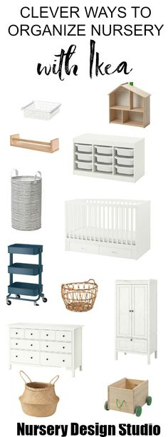 Today, we are sharing our best nursery storage ideas IKEA edition. These Brilliant IKEA Hacks will keep your baby's nursery organized. Ikea Nursery, Nursery Wall Decor, Nursery Design, Nursery Ideas, Baby Decor, Nursery Dresser, Ikea Dresser, Nursery Room, Room Ideas