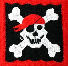 Free Crochet Pattern : Pirate Throw