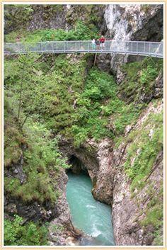 Picturesque Alpine village: Mittenwald spirit-gorge-in-mittenwald Germany Austria Border