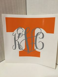 Monogrammed Tennessee Vols T by ShopCJGDesigns on Etsy