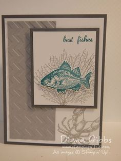 Stampin' Up! By the Tide, chevron embossing folder; April Fool's Blog Hop