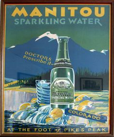 Miramont Castle - Manitou Springs Water advertisement - Angie White copyright 2012   faroutcreations.com