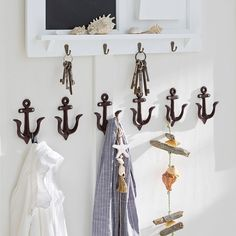 Hook set of 6 Ancre - Long Island / Maritim Landhaus Look - Kid Room Decor, Decor, Living Furniture, Coastal Decor, Household Furniture, Interior, Neutral Bathroom Colors, Maritime Decor, Room Decor