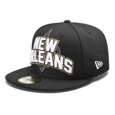 New Orleans Saints Youth 2012 New Era Draft 59Fifty Fitted Black Hat #Saints #NOLA #Hat