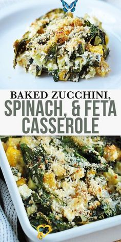 Baked Zucchini Spinach and Feta Casserole Baked Zucchini, Spinach, and Feta Casserole - this dish packs a hearty dose of vegetables, so healthy and flavour. Made with parmesan and low-fat feta. This recipe also utilizes whole-wheat bread… More<br> This dish packs a hearty dose of vegetables, so healthy and flavour, made with parmesan and low-fat feta. So delicious, for these chance to get of the healthiest vegetables for you. Vegetable Recipes Easy Healthy, Healthy Vegetables, Veggies, Low Fat Vegetarian Recipes, Healthy Vegetarian Dinner Recipes, Healthy Delicious Recipes, Healthy Dishes, Casseroles Healthy, Keto Recipes