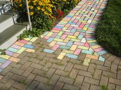 things to do with chalk, so fun!