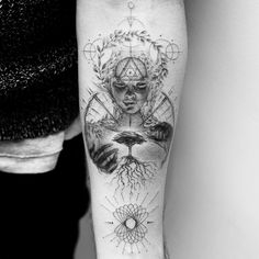 nature minded - Tattoo by Balazs Bercsenyi Dope Tattoos, Badass Tattoos, Leg Tattoos, Body Art Tattoos, Tribal Tattoos, Tattoos For Guys, Tattoos For Women, Sleeve Tattoos, Tatoos
