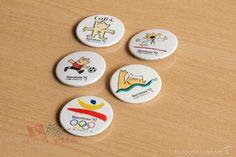 5 Chapas de los Juegos Olímpicos de Barcelona - 1992